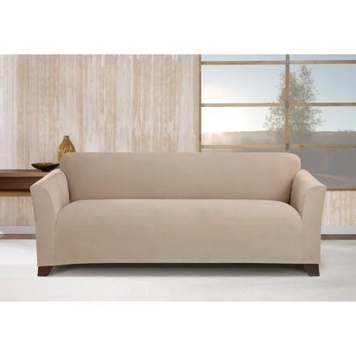 stretch morgan 1 piece sofa furniture cover clothes 1-piece cover, khaki ...