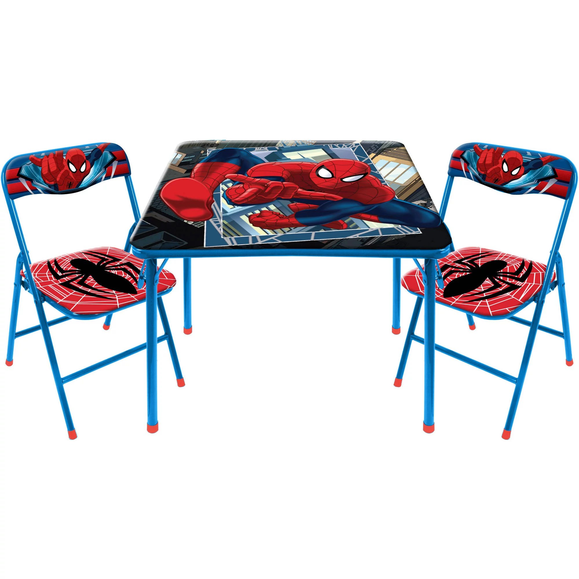 3 piece table and chair set office adjustable arms marvel spider man square walmart com