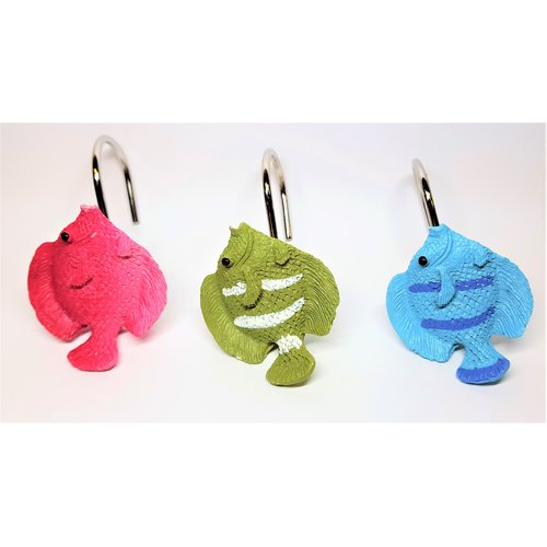 ben and jonah tropical fish shower curtain hooks set of 12