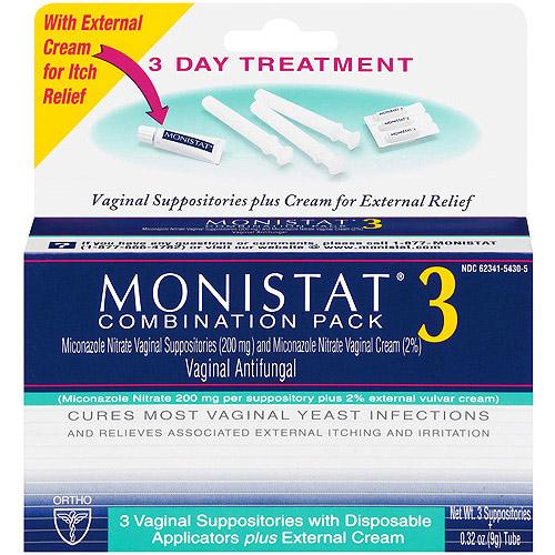 Monistat 3 Miconazole Nitrate Suppositories & Cream ...