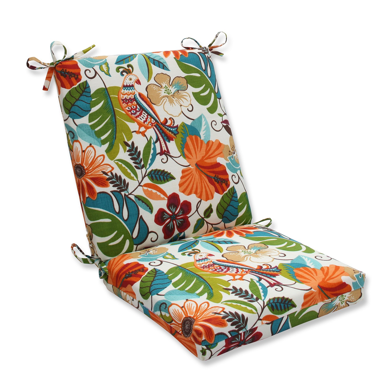 36 5 orange and green floral outdoor patio chair cushions with back 19 walmart com