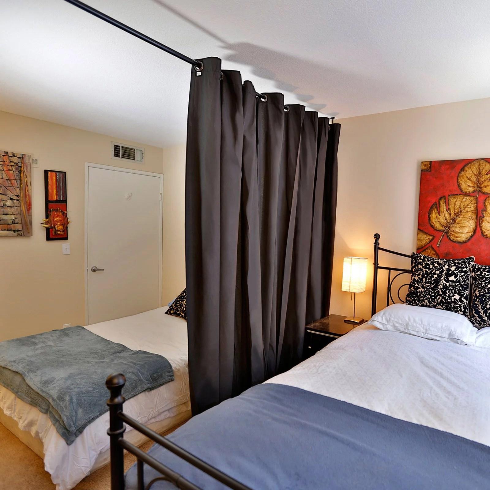 roomdividersnow muslin hanging curtain room divider kit
