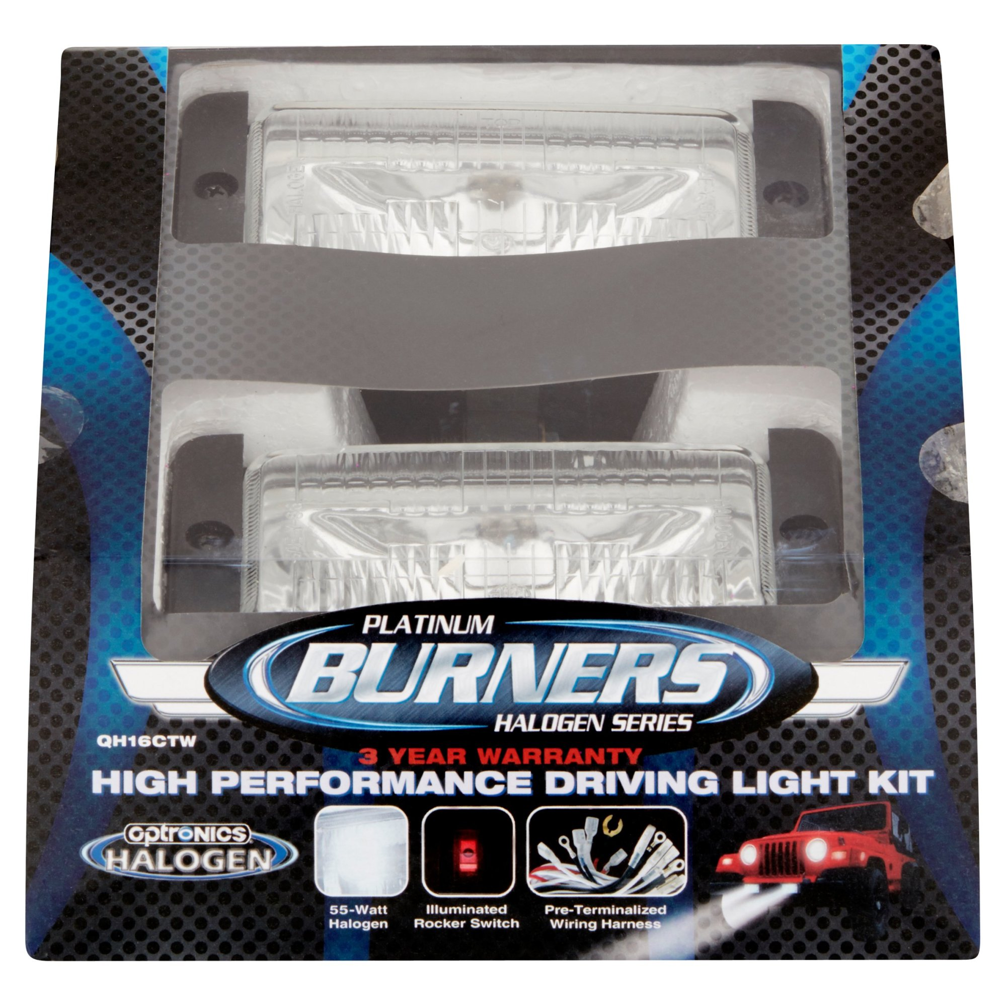 hight resolution of optronics burners platinum halogen series high performance driving light kit walmart com