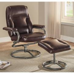 Reclining Chair With Ottoman Leather Light Blue Dining Chairs Recliner Soft Upholstered Armrests