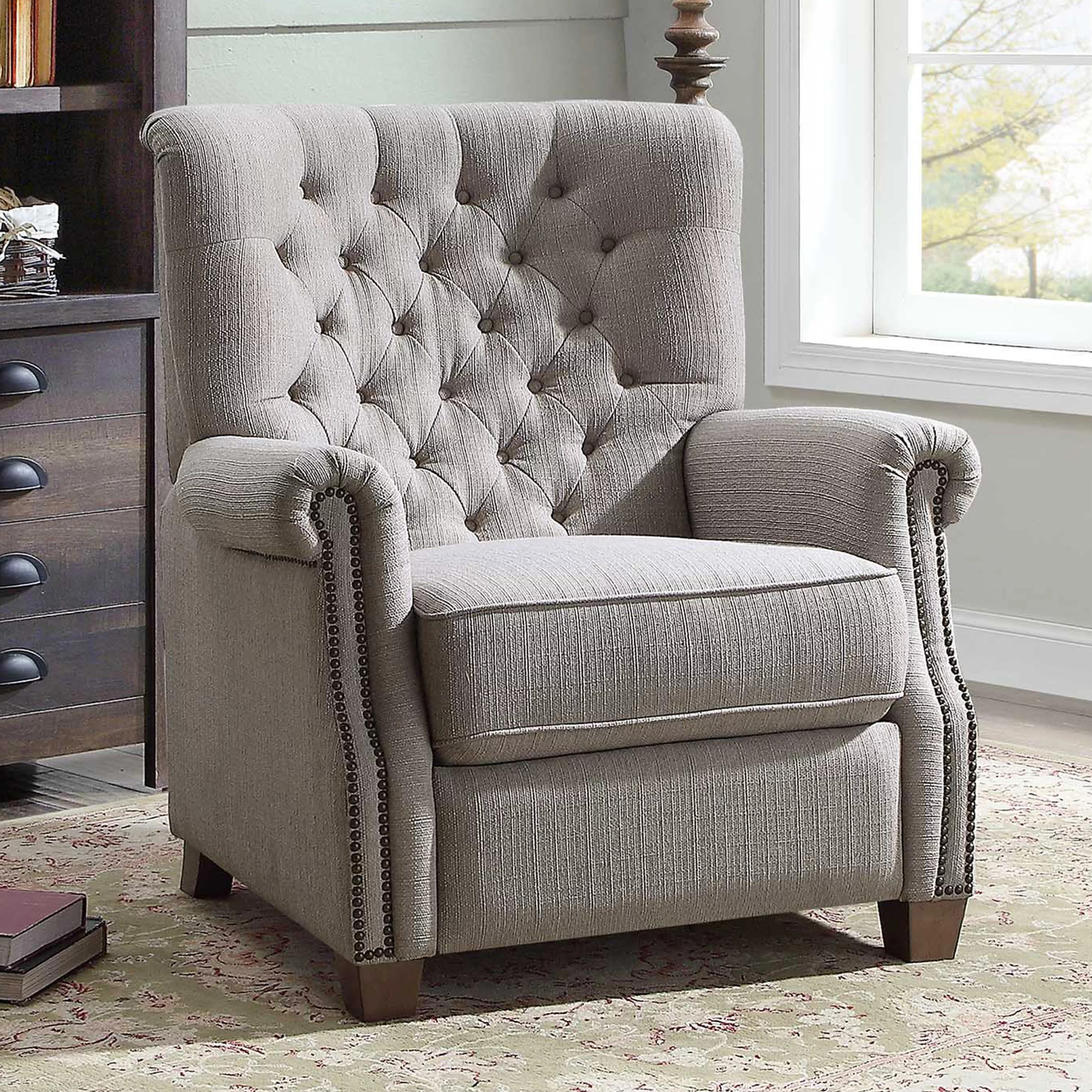 healthy office chairs ikea rocking chair better homes and garden tufted push back recliner - walmart.com