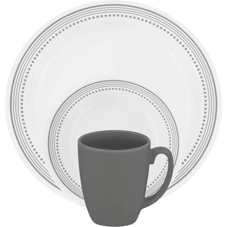 White Square Dinnerware Sets For 12 & Glamorous White