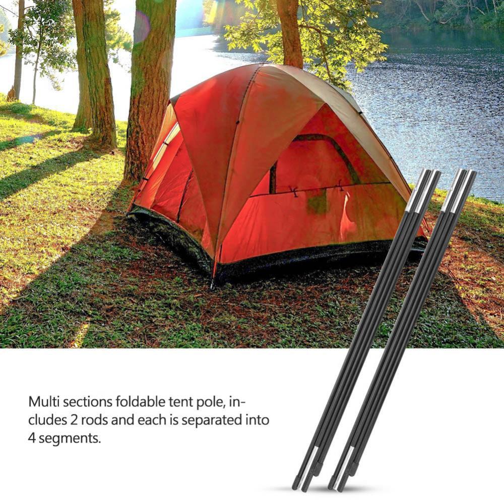 cergrey auvent tige pole tente barres pole tente camping en fibre de verre pour double tentes support tiges auvent cadres kit
