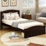 Clearance Twin Platform Bed Frame With Headboard And Storage Drawer Heavy Duty Espresso Upholstered Bed Frame With Wood Slat Support For Adults Teens Children No Box Spring Required L4752 Walmart Com