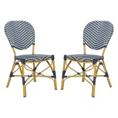 Outdoor French Bistro Chairs Double High Chair For Twins Safavieh Lisbeth Stacking Side Set Of 2 Walmart Com