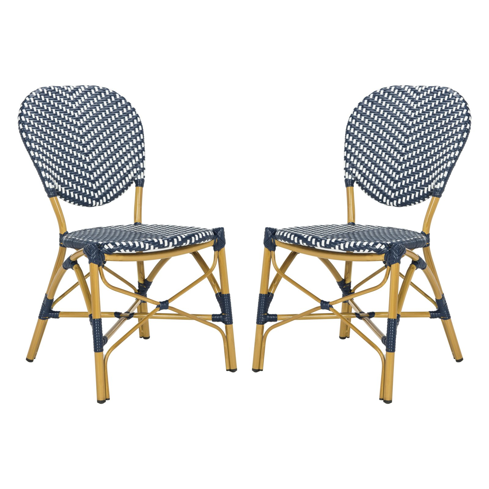 Outdoor French Bistro Chairs Safavieh Lisbeth Outdoor French Bistro Stacking Side Chair Set Of 2