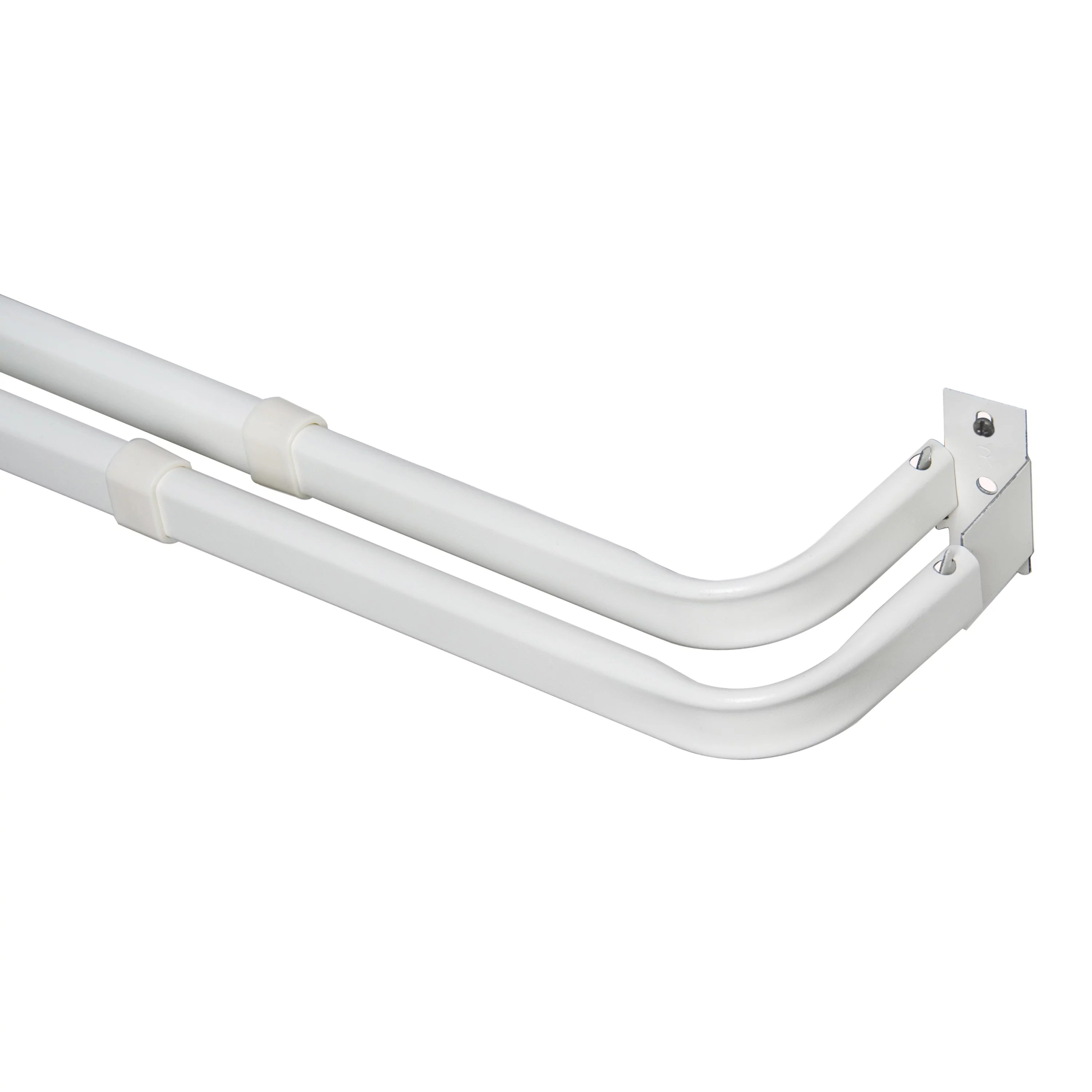 mainstays 28 48 in basic adjustable double curtain rod 2 3 in clearance