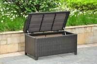 Wicker Resin/Aluminum Patio Bench with Storage - Walmart.com