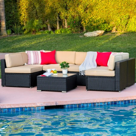 Best Choice Products Pc Outdoor Patio Garden Wicker Furniture Rattan Sofa Set