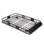 Arksen 64 Universal Black Roof Rack Cargo With Extension Car Top Luggage Holder Carrier Basket Suv Walmart Com Walmart Com
