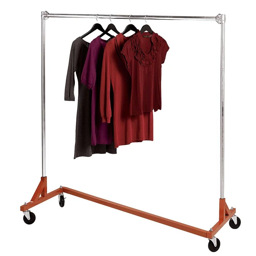 heavy duty single rail z truck clothing rack
