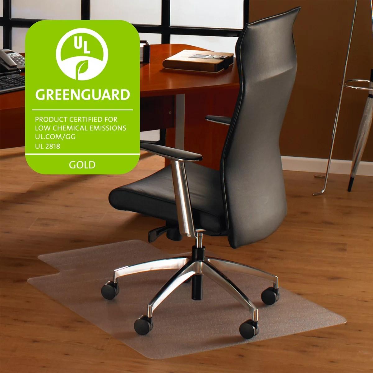 office chair mat 45 x 60 classy bean bag chairs floortex cleartex ultimat 48 for hard floor rectangular with lip walmart com