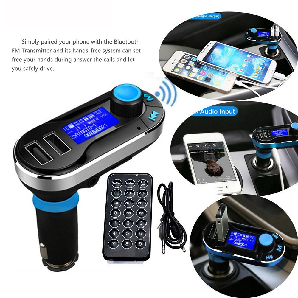hight resolution of cheap 2016 car fm transmitter mp3 player car wireless fm transmitter with audio radio usb sd bluetooth u disk aux in tf card in car mp3 players from