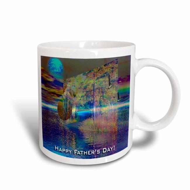 3dRose Color of Sundown, Happy Fathers Day, 3d, Ceramic Mug, 11-ounce