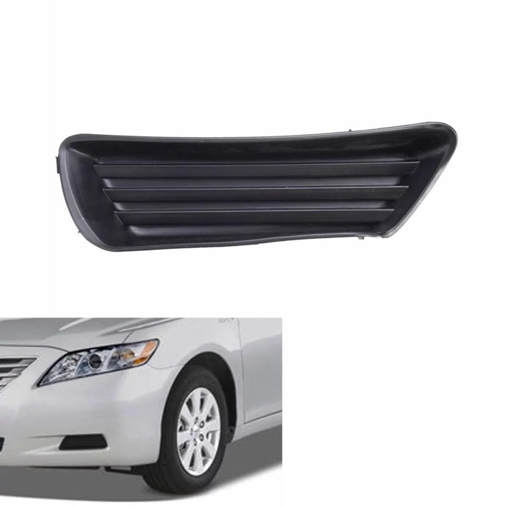 medium resolution of left side front bumper fog light cover for toyota camry 5212706050 to1039124 walmart com