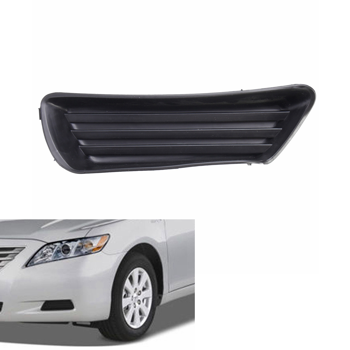 hight resolution of left side front bumper fog light cover for toyota camry 5212706050 to1039124 walmart com