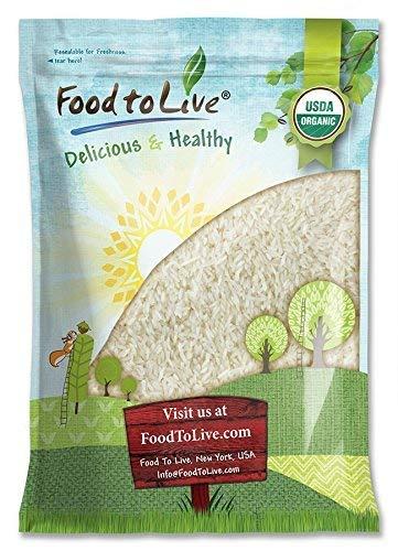 Organic Jasmine Rice 5 Pounds - Raw White Rice Whole ...
