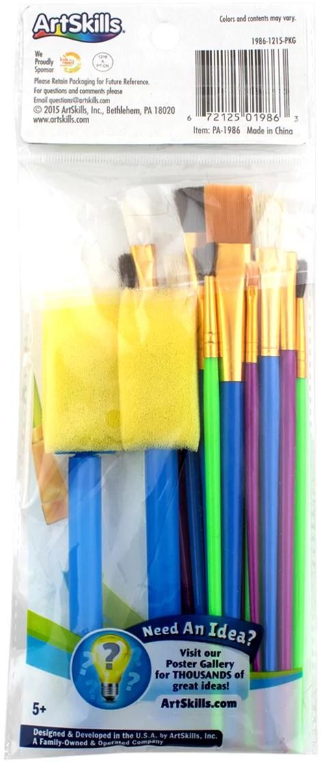 Art Skills Paint : skills, paint, ArtSkills, Premium, Artist, Quality, Paint, Brush, Crafts, Painting,, Assorted, Sizes,, Walmart.com