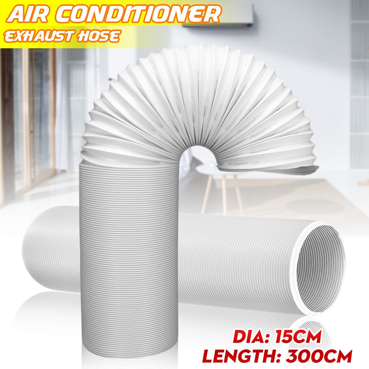 portable air conditioner universal exhaust hose 6 inch diameter 59 inch length anti clockwise thread