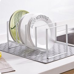 Metal Kitchen Rack Shun Scissors Dish Shelf Vertical Bowl Drying Drain Storage Holder