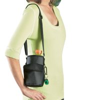 Water Bottle Holder With Shoulder Strap, Black