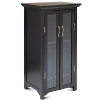 Wine Cabinet with French Glass Doors, Espresso - Walmart.com