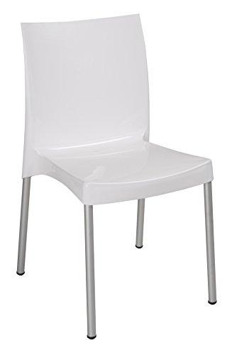 walmart white plastic chairs antique barber chair tensai nicole collection glossy finish durable com