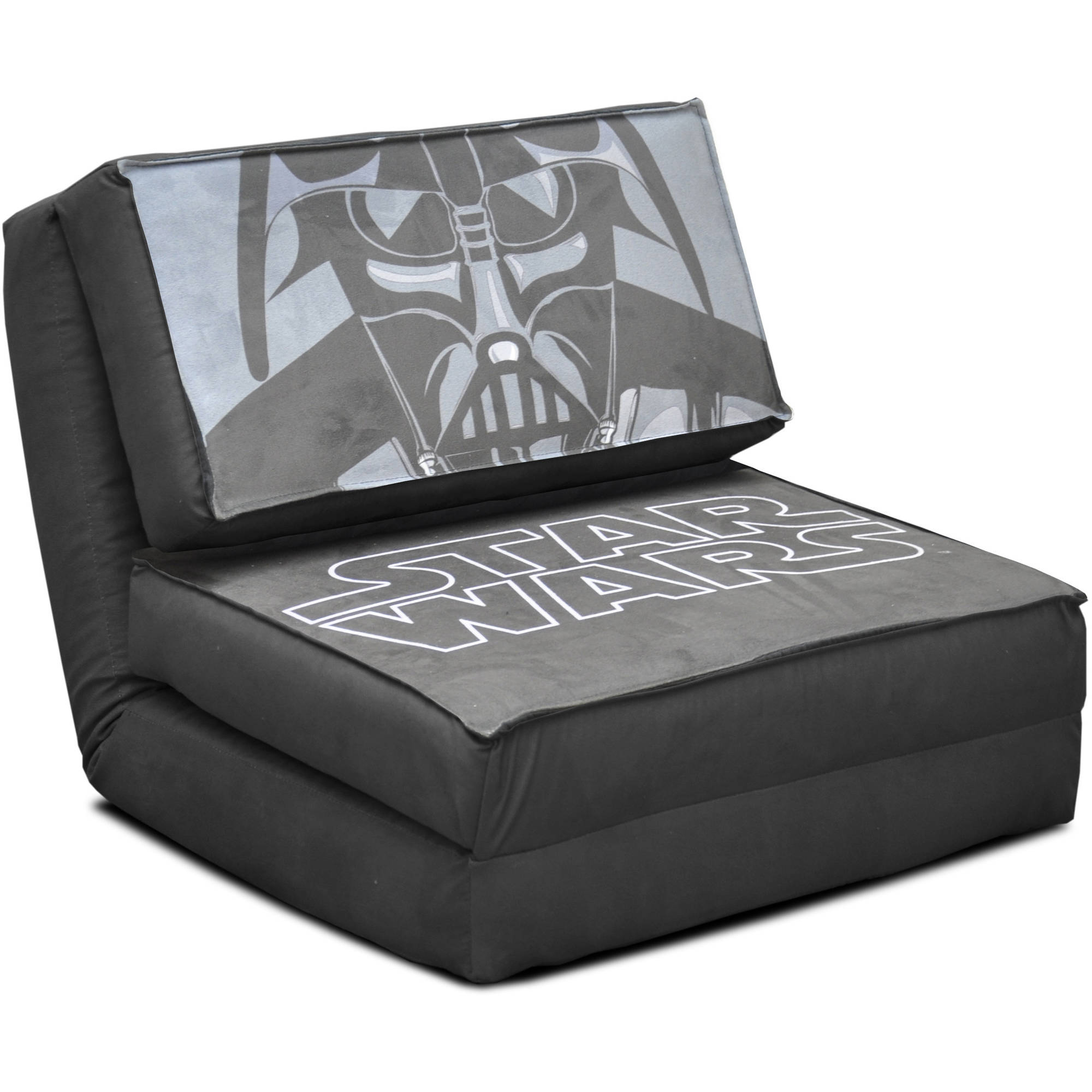 tween flip sofa solid wood frame sectional star wars kids chair darth vader reclining lounge