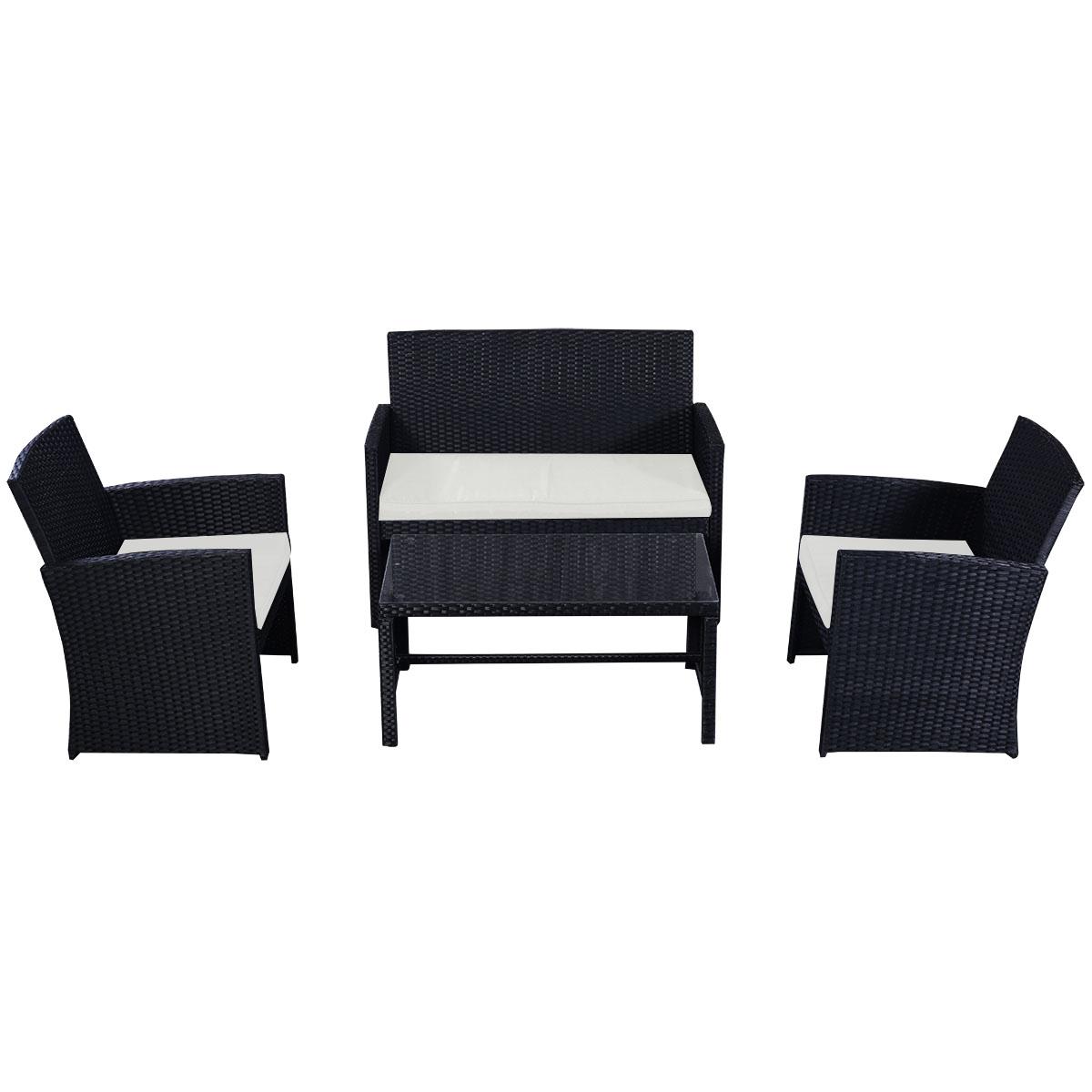 3 seater rattan effect mini corner sofa black modern beds vancouver