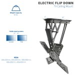 Vivo Electric Motorized Flip Down Pitched Roof Ceiling Tv Mount For 23 To 55 Screen Mount E Fd55 Walmart Com Walmart Com