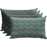 Mainstays Outdoor Patio Lumbar Pillow, Set of 4 - Walmart.com
