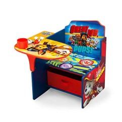 Red Childrens Desk Chair Celebrity Accessories Nick Jr Paw Patrol With Storage Bin By Delta Children
