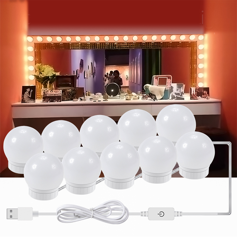 kohree 10 14 bulb vanity lights for mirror diy hollywood lighted makeup vanity mirror with dimmable lights plug in makeup light for bathroom wall