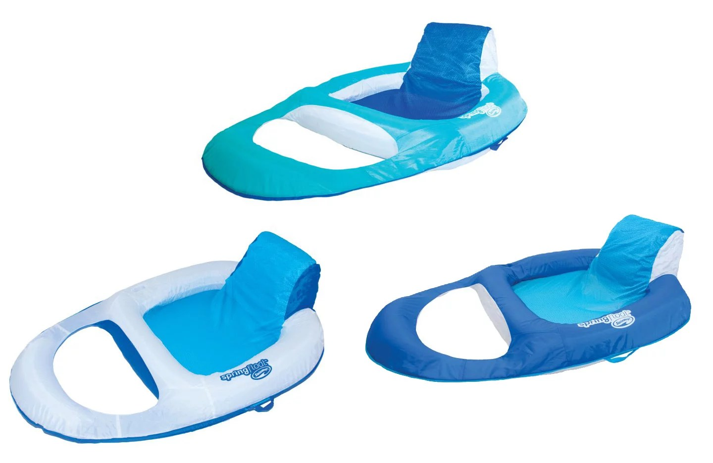 Pool Float Chair Swimways Spring Float Recliner Floating Pool Lounge Chair