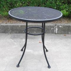 Outdoor Bistro Table And Chairs Set Wilson Fisher Resin Wicker Reclining Patio Chair Mainstays Wrought Iron 3 Piece Walmart Com