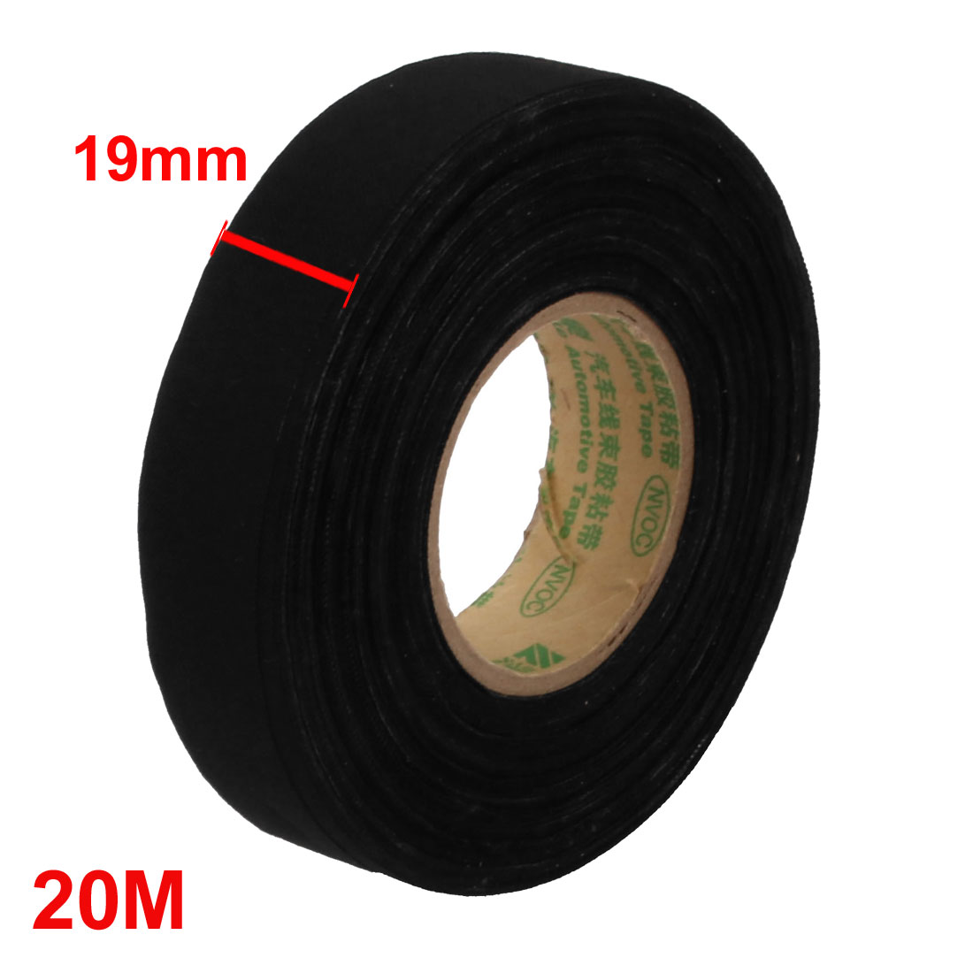 unique bargains black 20m long 19mm width insulation adhesive cloth tape car wire harness tape [ 1100 x 1100 Pixel ]