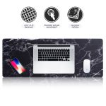 Insten Extra Large Gaming Mouse Pad Marble Design Long Mat Size 31 X 12 With Low Friction Smooth Surface And Non Slip Backing For Desktop Mouse Keyboard Laptop Black Walmart Com Walmart Com