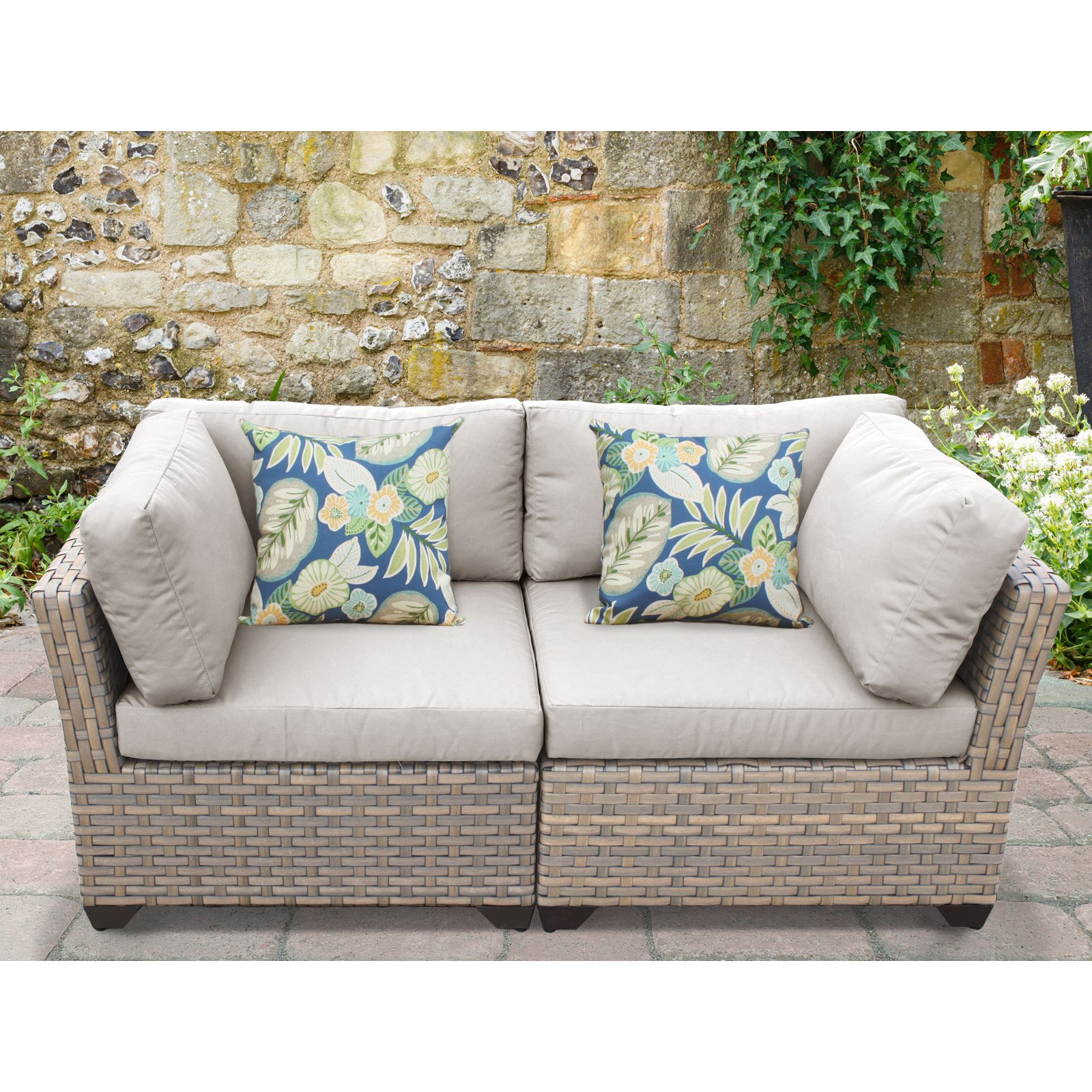 lexmod monterey outdoor wicker rattan sectional sofa set puzzle innovation tk classics 2 piece loveseat