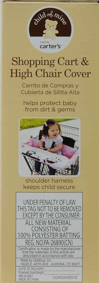 carter s high chair cushion glitter stretch covers for sale child of mine shopping cart and cover girl walmart com