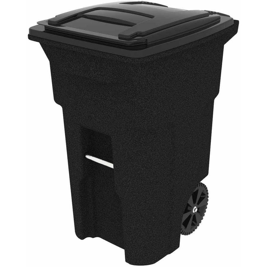 Toter 64 Gallon 2Wheel Trash Can Cart Blackstone