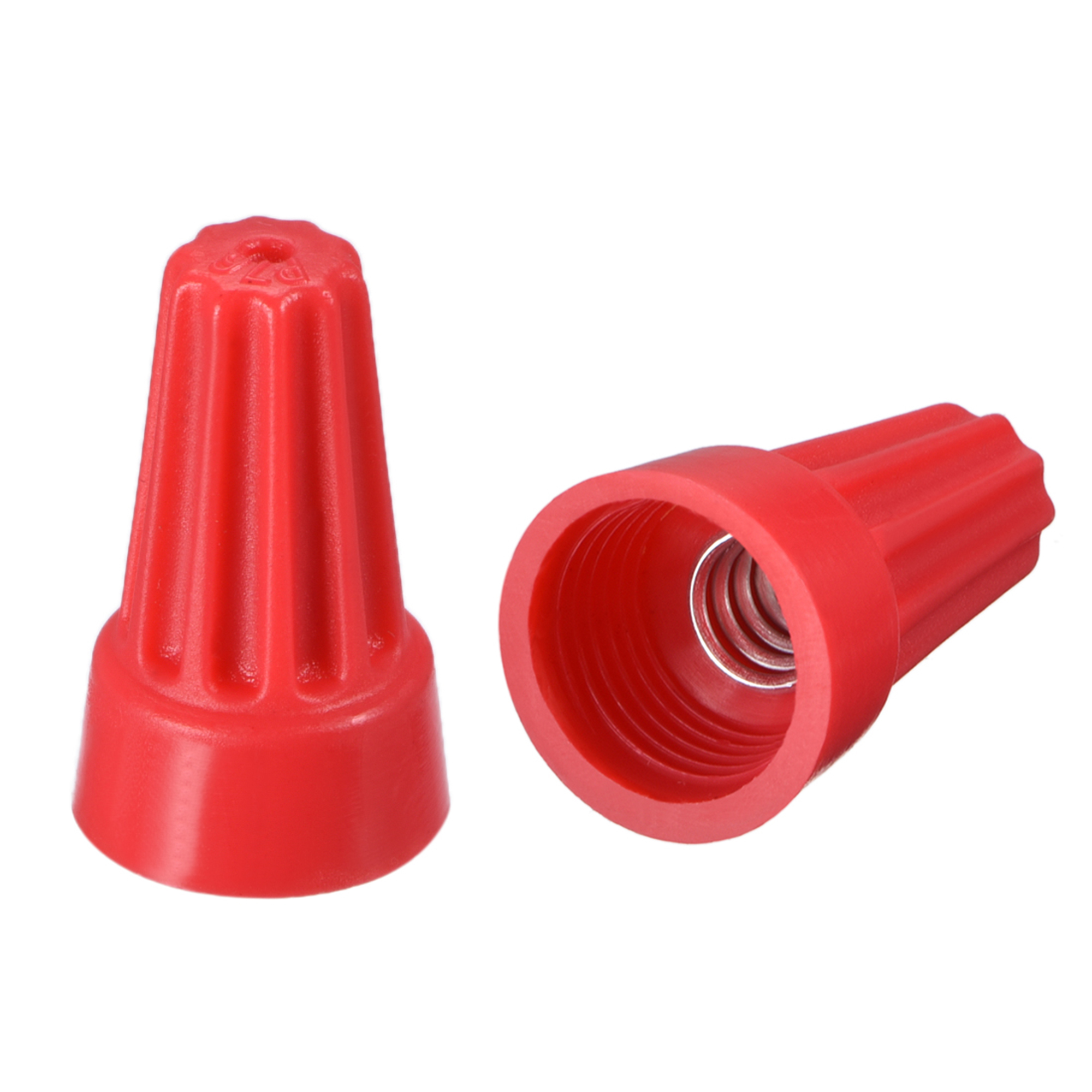 medium resolution of wire nuts electrical connectors twist nut caps screw terminals red wire nut connections close up wire nut cover