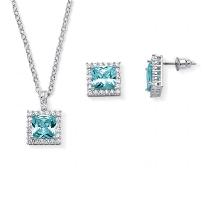 Palm Beach Jewelry 5599212 0.30 TCW Princess-Cut Simulated