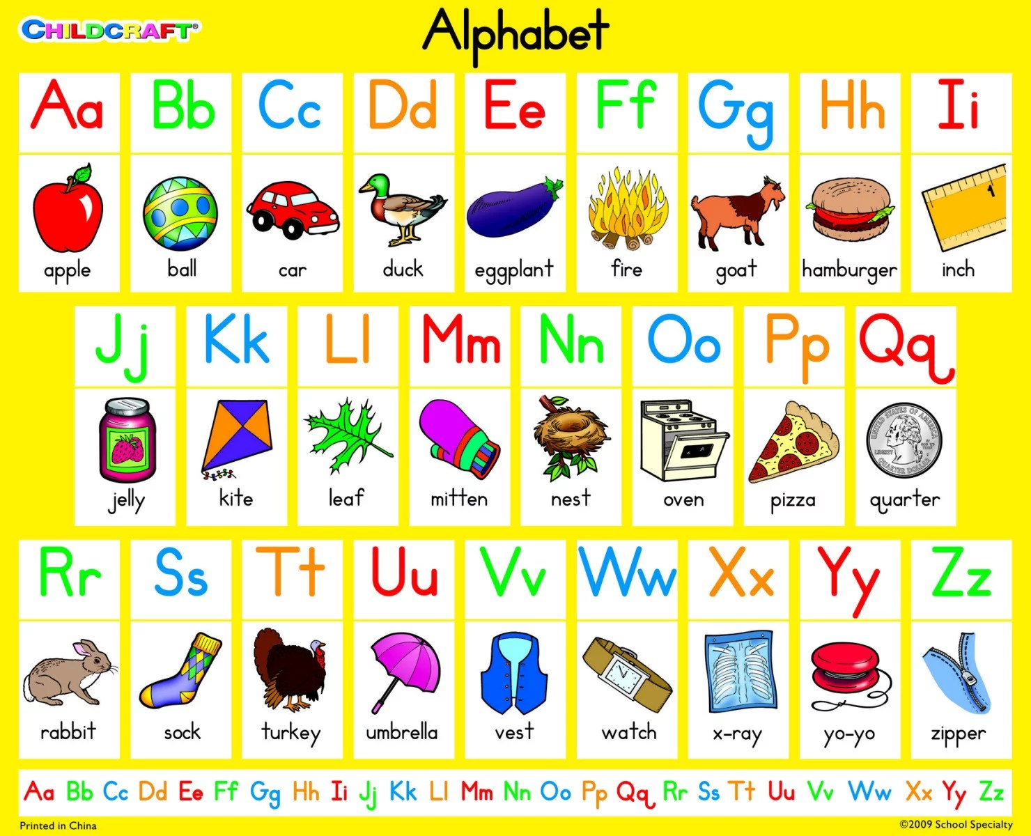 Childcraft English Alphabet Literacy Classroom Chart