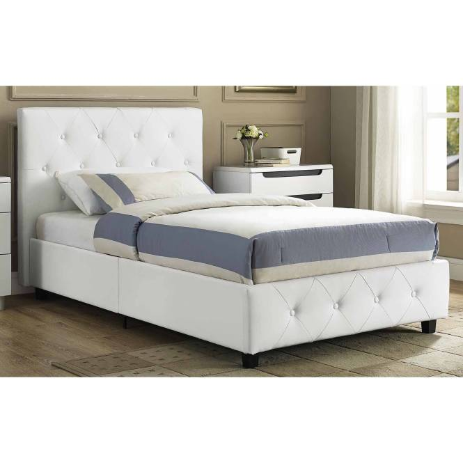 Cheerwing 12 7 High Metal Platform Bed Frame With Two Bowknot Headboards Easy Assembly Twin Full Size