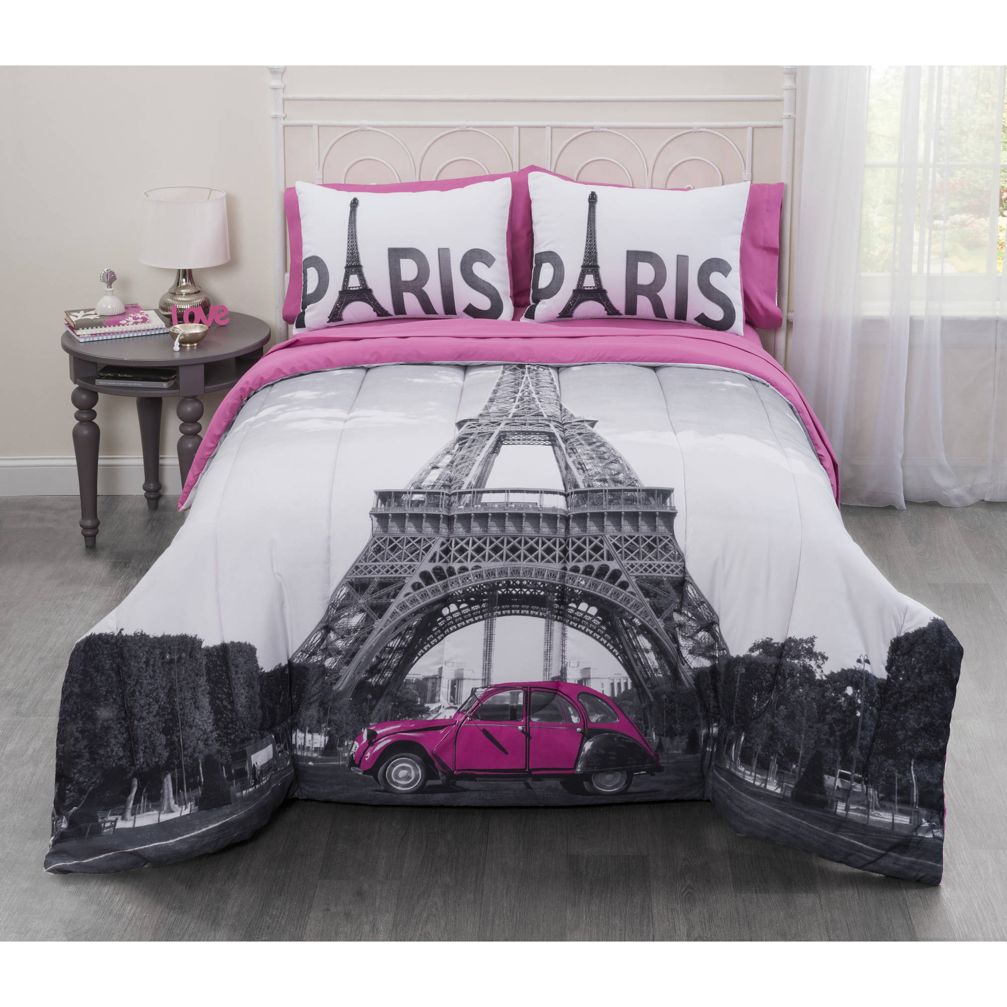 Casa Photo Real Paris Eiffel Tower Bed in a Bag Bedding