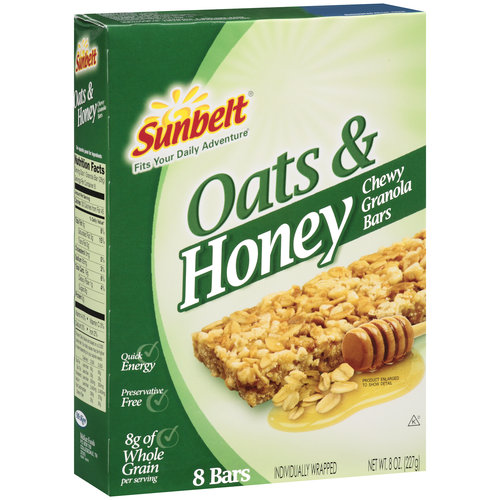 Sunbelt Oats amp Honey Chewy Granola Bars 8 CT Walmartcom